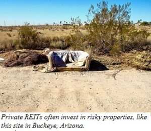 Private REITs often invest in risky properties